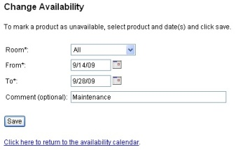 Change availability