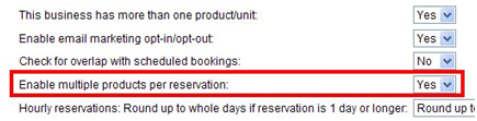 Allow customers to booking multiple items in a single reservation
