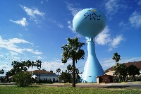 Next to SPI Water tower