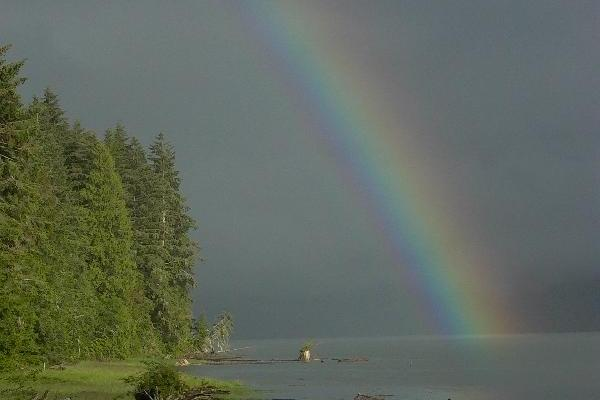 Cassiar Cannery - beautiful rainbow