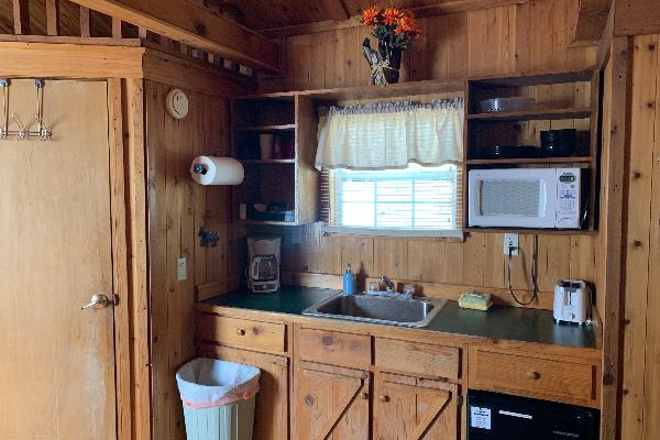 Cholla  Cabin Kitchenette