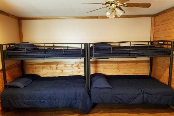 Bunkhouse #1 two bunk beds with full size bottom and twin top