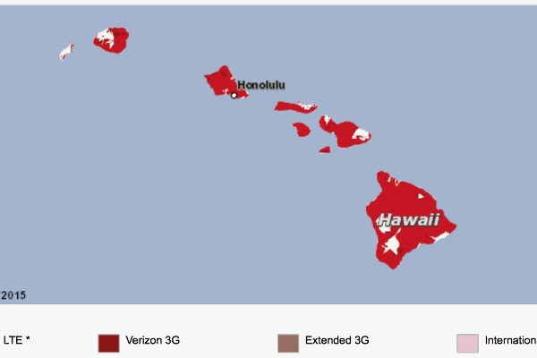 Verizon's Superior Statewide 4G Coverage in Hawaii