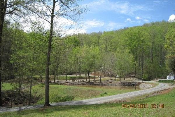 Easy access paved or hard pack gravel road throughout campground