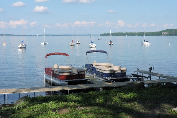 Pontoons on Lake Mendota