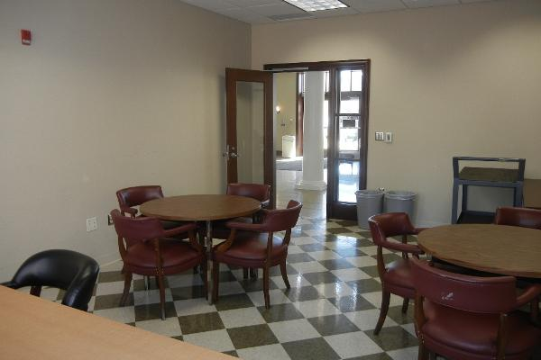 Break room adjacent to Atrium