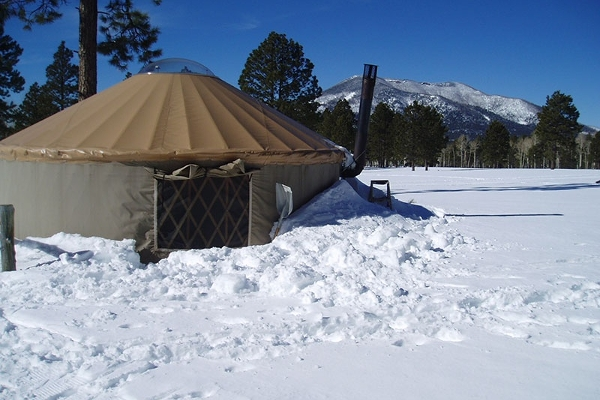 Large Yurt in Winter