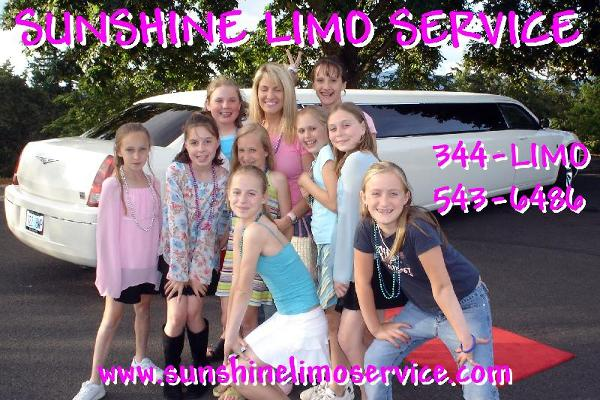 Oregon Kids Birthday Party Limo www.sunshinelimoservice.com
