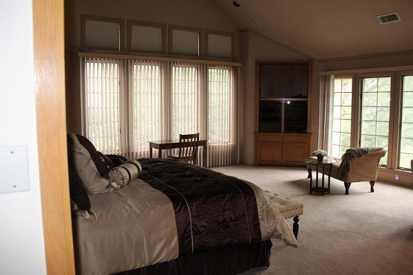 2000 Sq Ft  Master Suite with sitting areas and fireplace