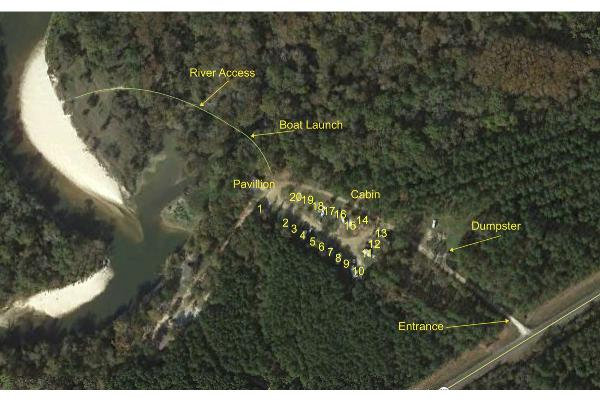 RV Park Site Layout Map
