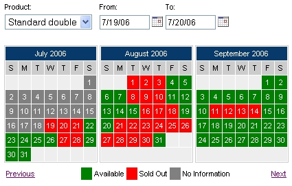 The availability calendar and booking calendar makes it easy to view availability